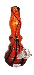 12 Inch Red Glass Water Pipe  Height 30cm  (Parts included)