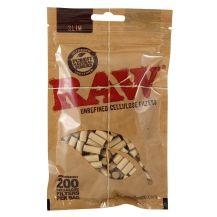 RAW Slim Cellulose Filters Bag (200pc)