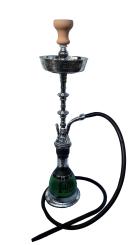 Mazaya Green Large Hookah Pipe Single Hose