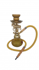 Gold Knight Hookah Pipe Small Single Hose