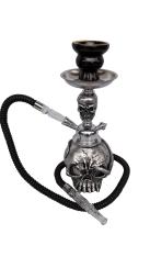 Silver Skull Hookah Pipe small 1 hose